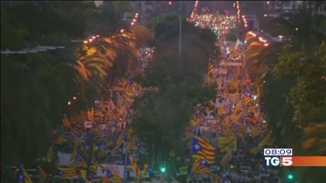 Grande manifestazione a Barcellona per i detenuti politici