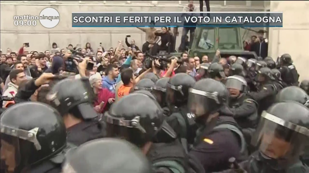 Scontri e feriti per il voto in Catalogna
