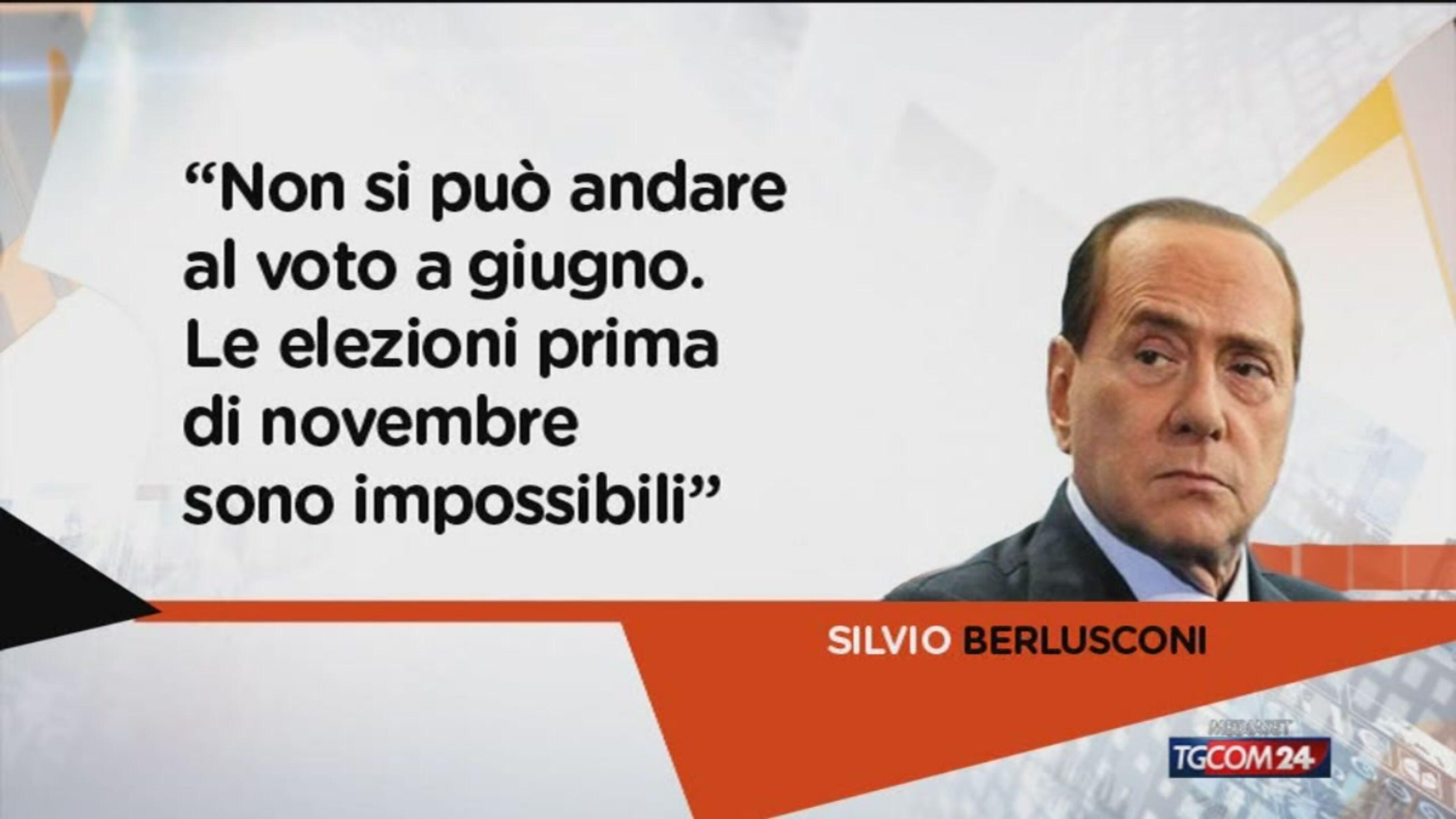 Berlusconi: elezioni non prima di novembre