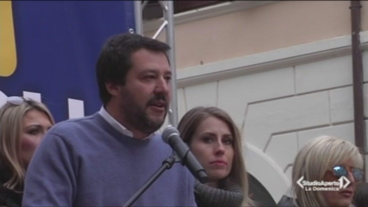 La Lega scende in piazza a Roma