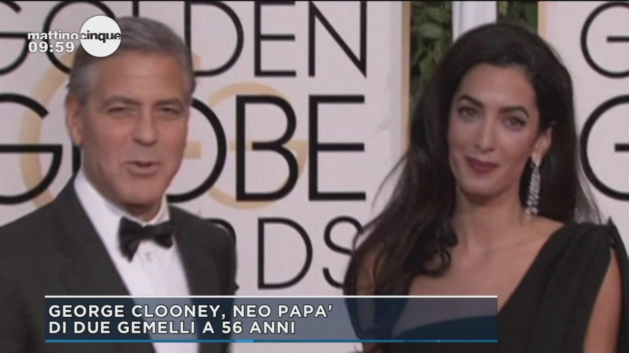 George Clooney, neo papà di due gemelli a 56 anni
