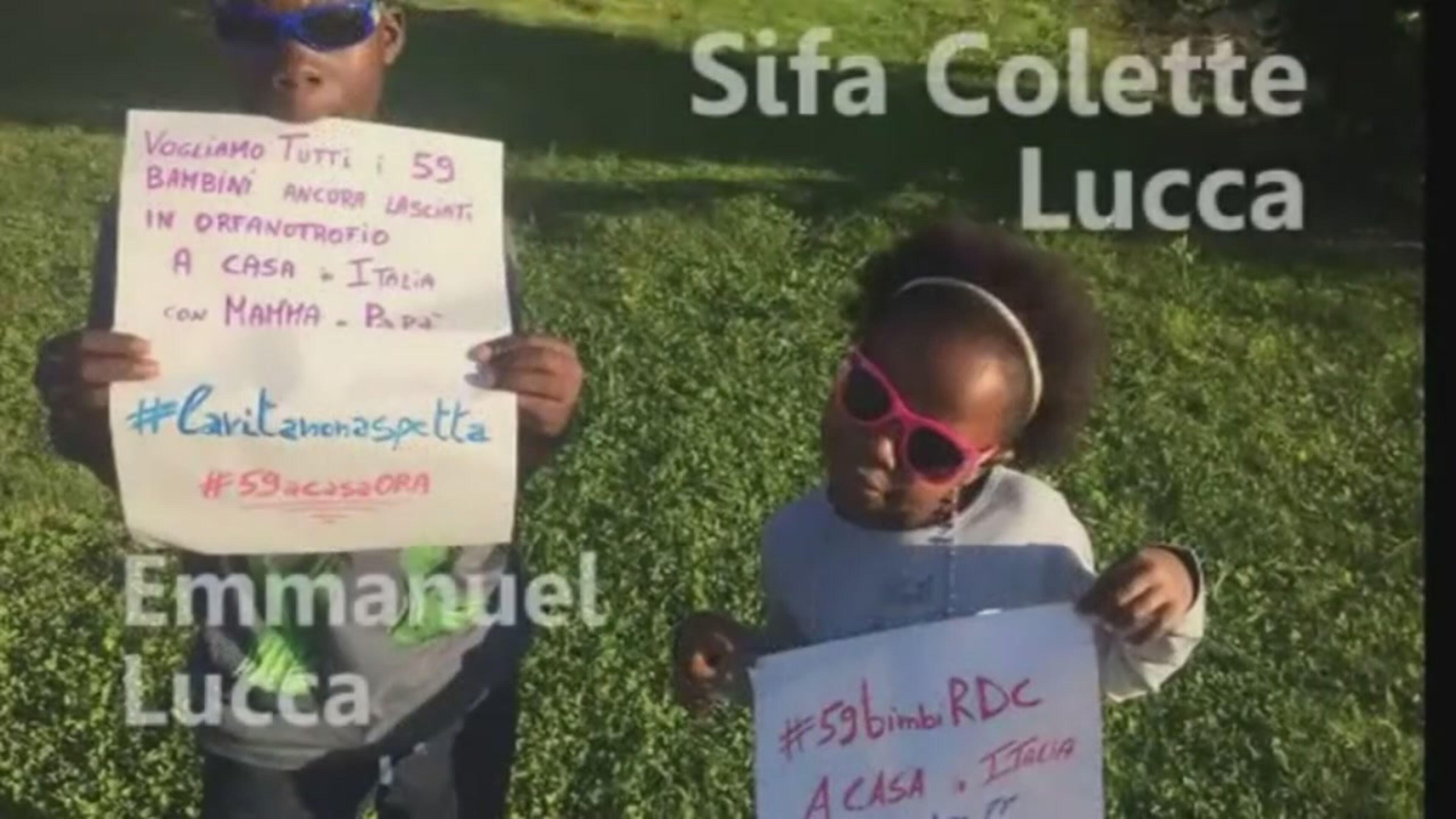 Adozioni dal Congo, l'appello dei bambini già in Italia
