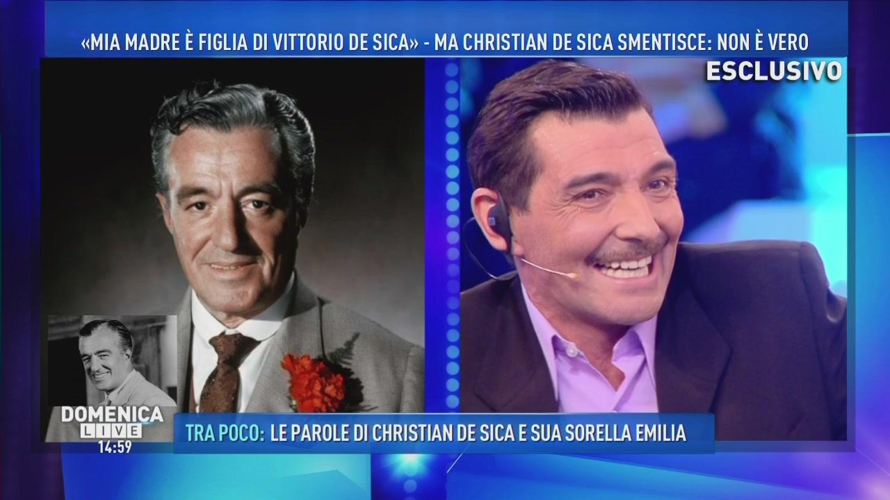 """""""Mia madre è figlia di VIttorio De Sica"""""""