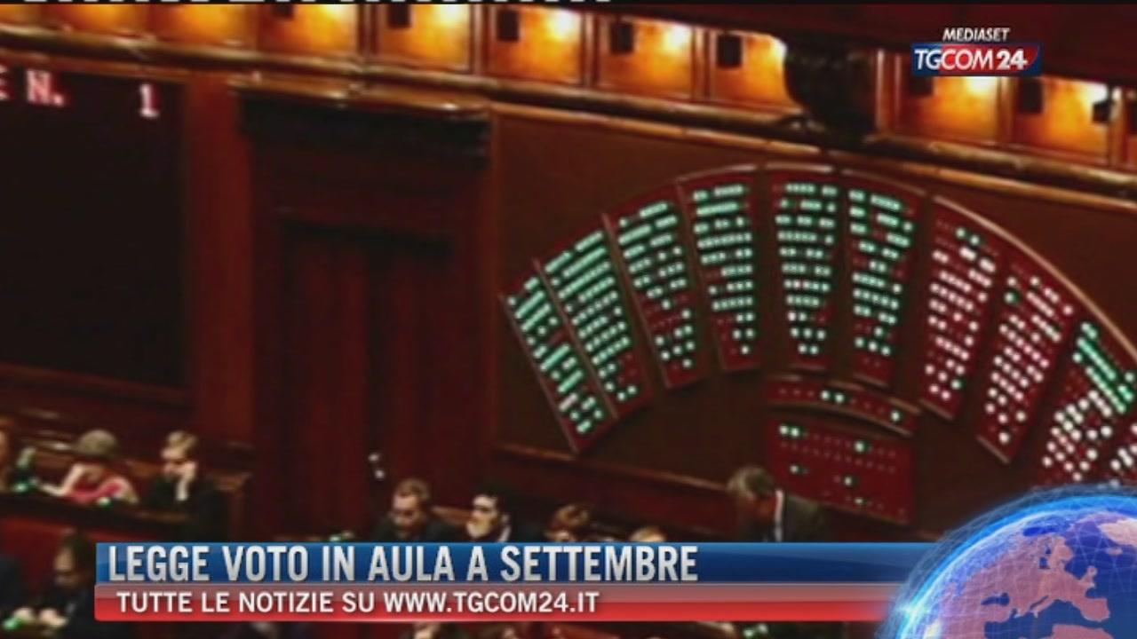 Legge elettorale, la Camera esaminerà la riforma a settembre