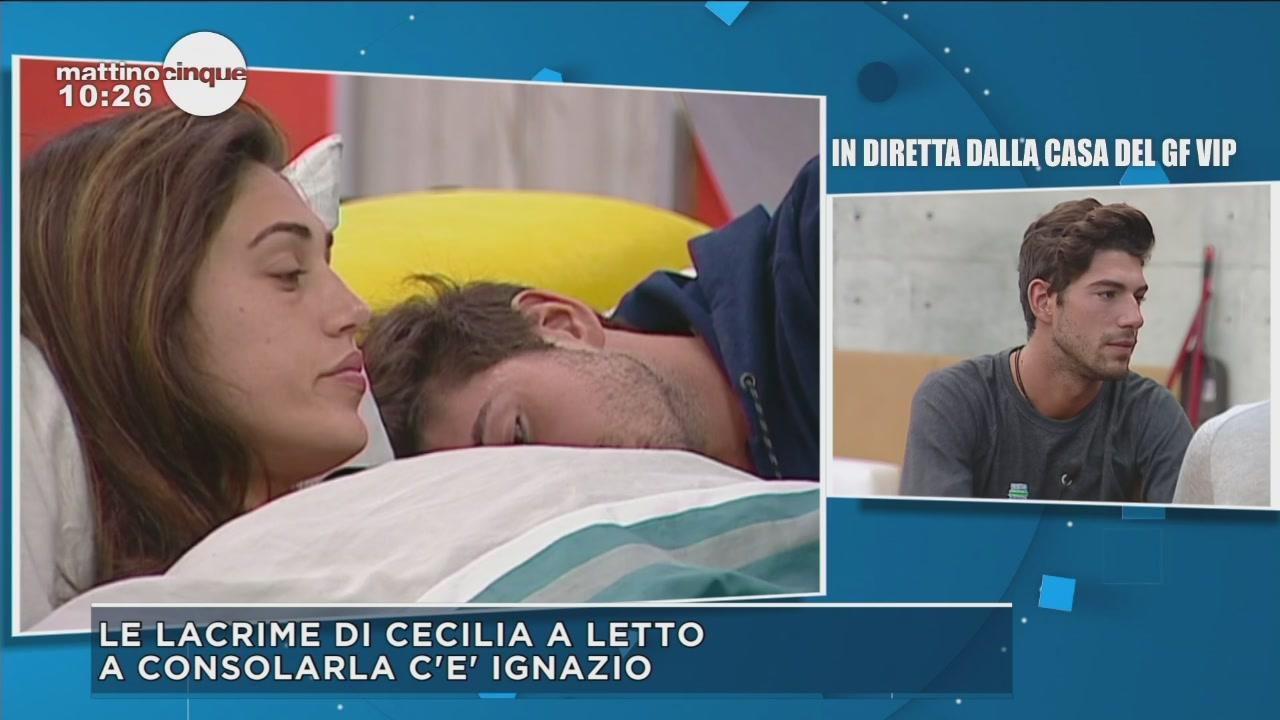 GF Vip 2: Le lacrime di Cecilia a letto