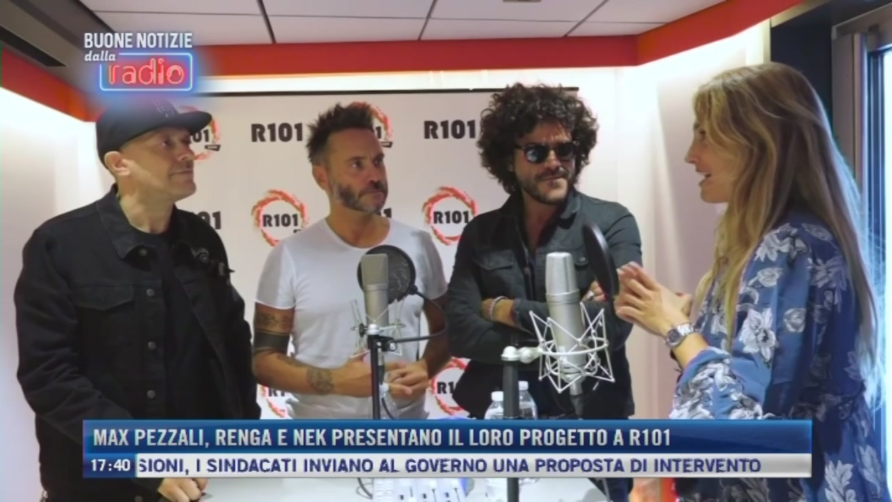 Max Pezzali, Renga e Nek ospiti di R101