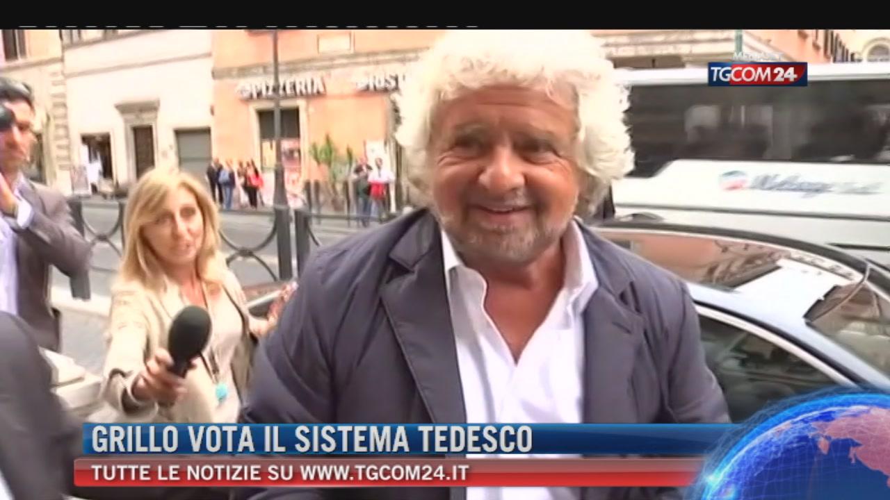 """Legge elettorale, Grillo blinda accordo su tedesco. Enrico Letta: """"Peggio della prima repubblica"""""""