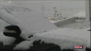 Tempo impazzito, in Cina nevica