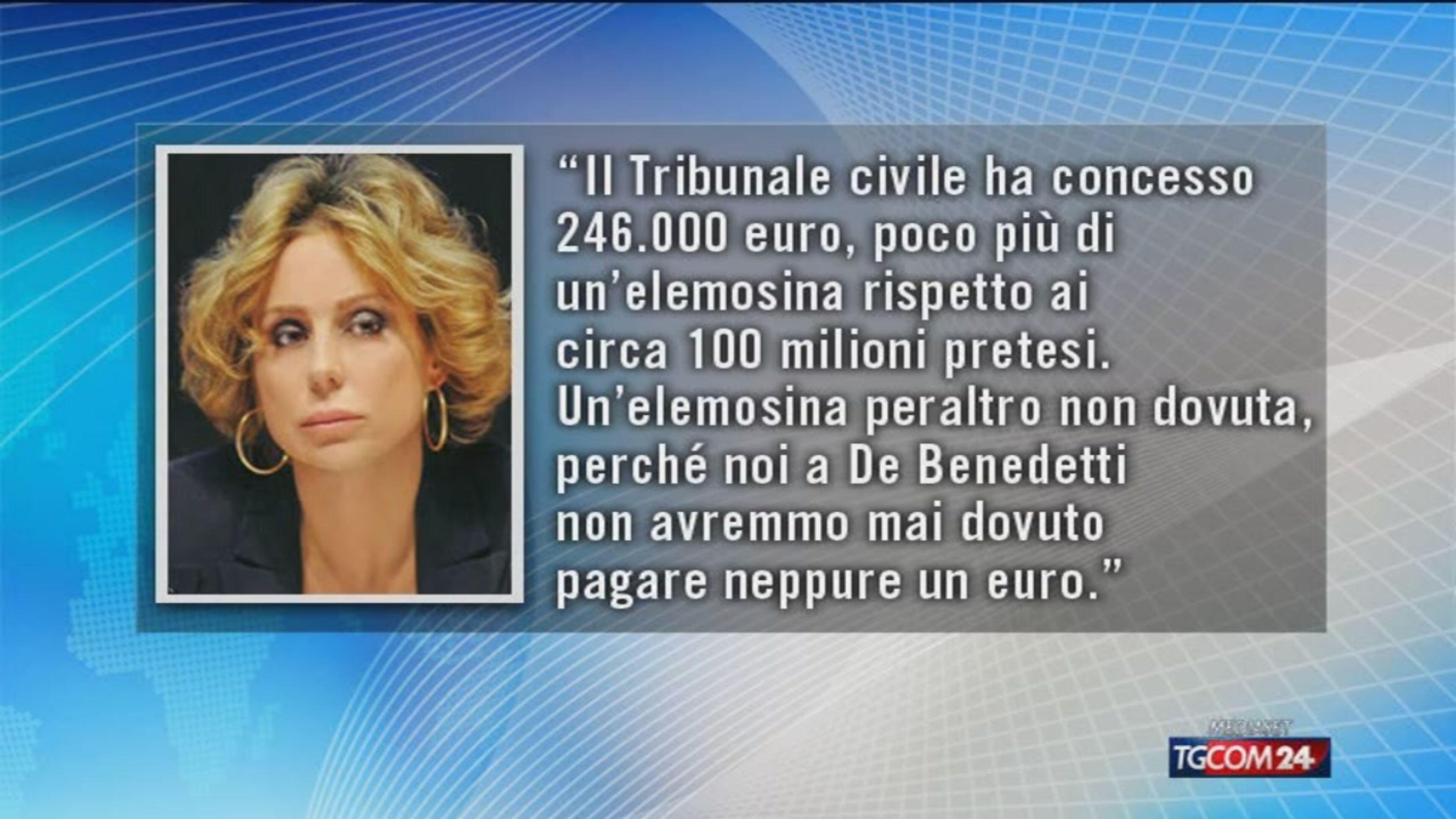 "Lodo Mondadori, Marina Berlusconi: ""A Cir è andata male"""