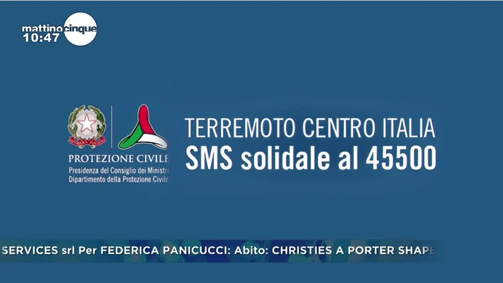Terremoto: sms solidale 45500