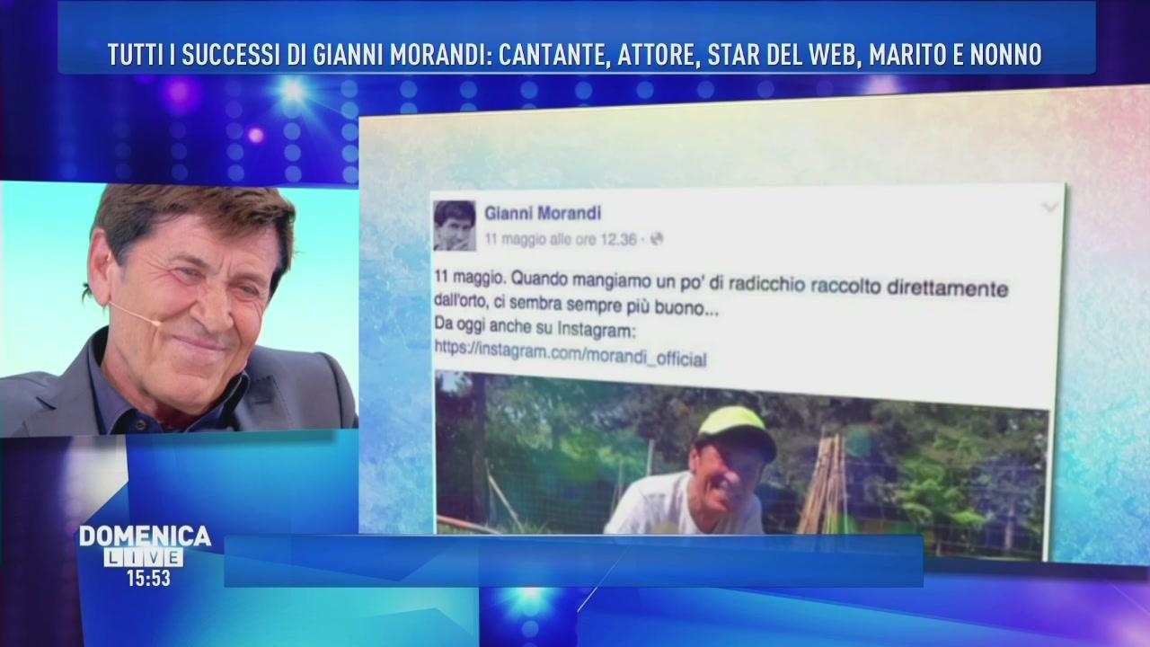 Gianni Morandi star del web