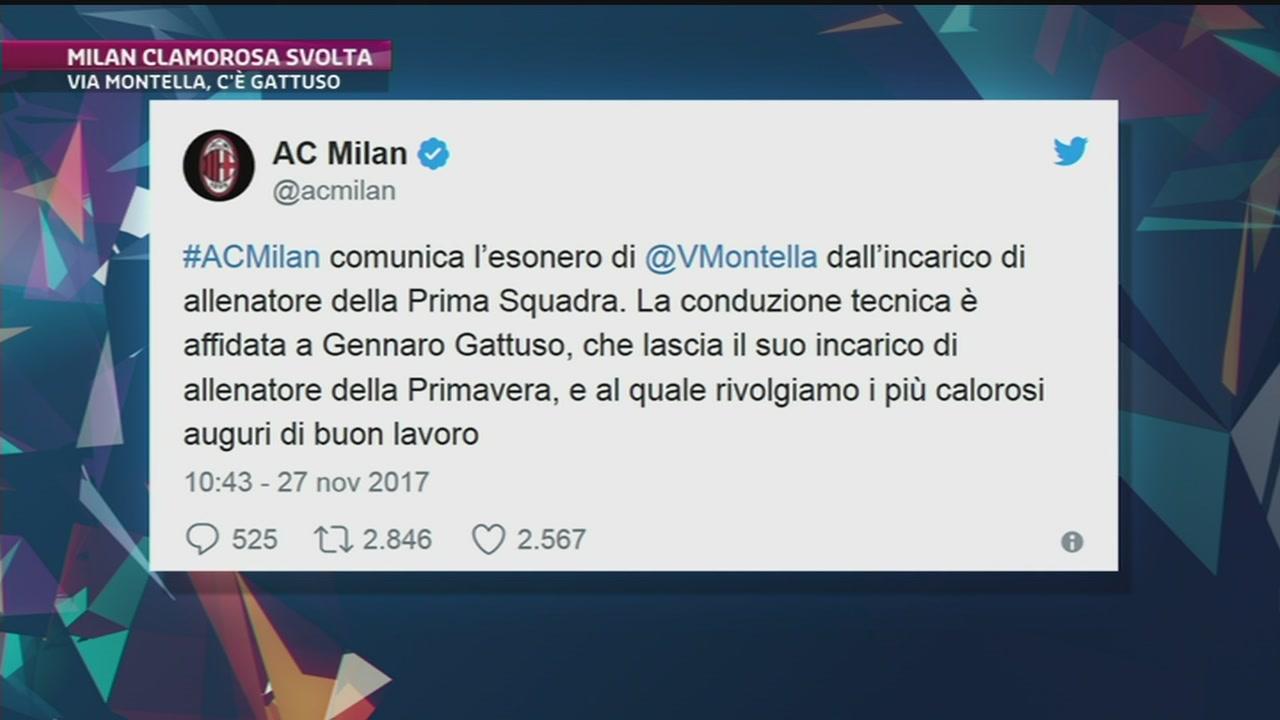 Milan: esonerato Montella