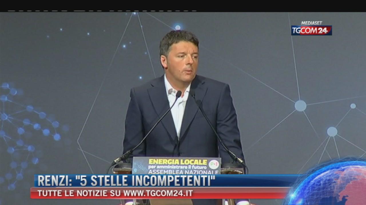 """Breaking News delle ore 14.30: """"Renzi, M5s incompetenti"""""""