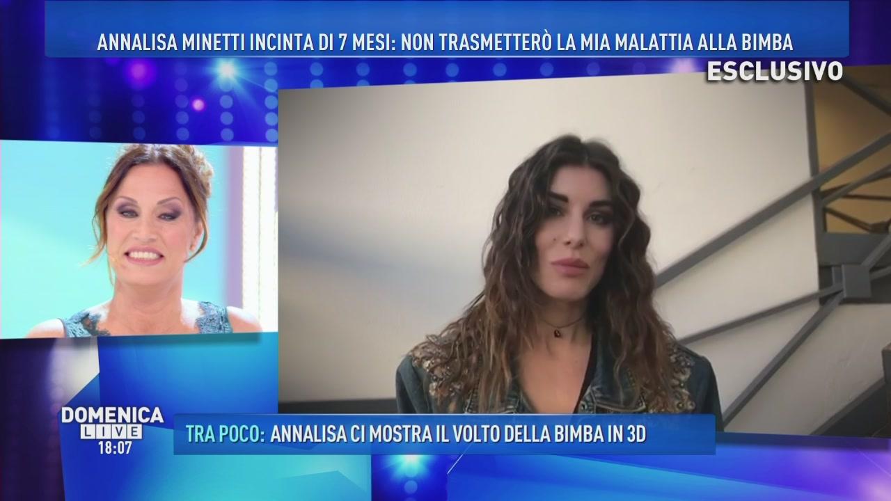 Annalisa Minetti: il saluto di Bianca Atzei