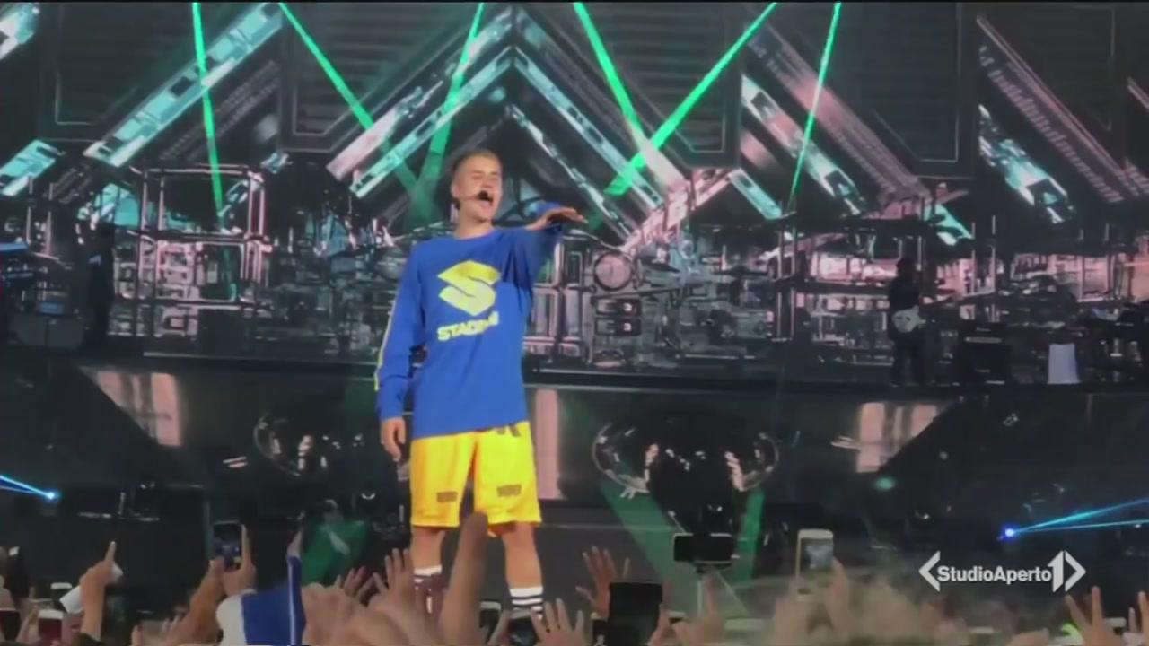 Lo spettacolo di Justin Bieber