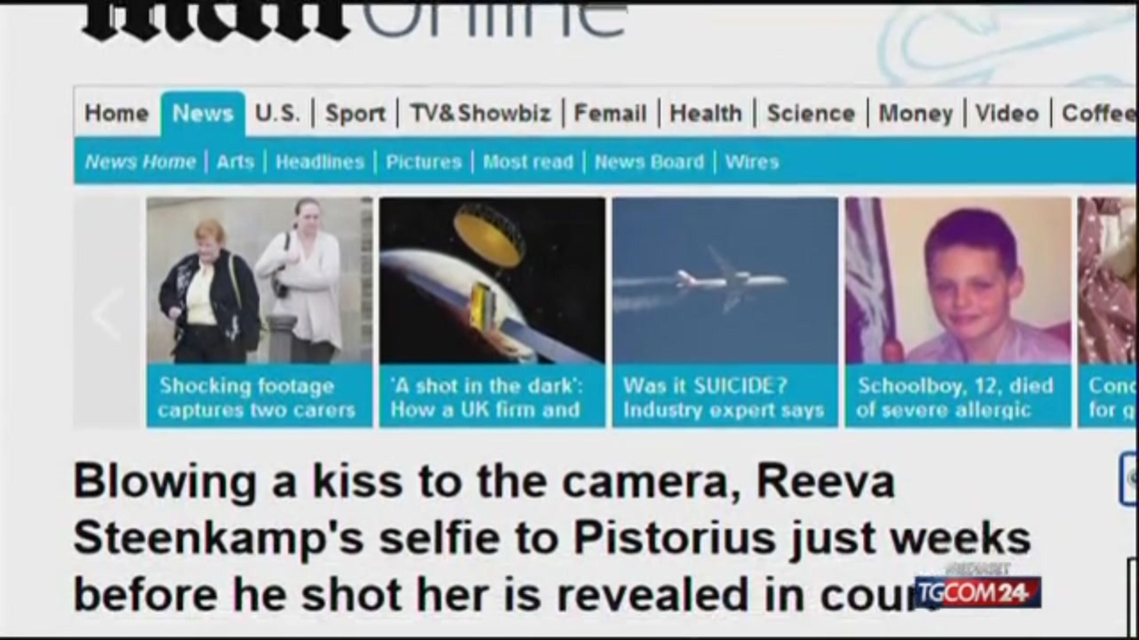 Pistorius: quell'ultimo selfie di Reeva