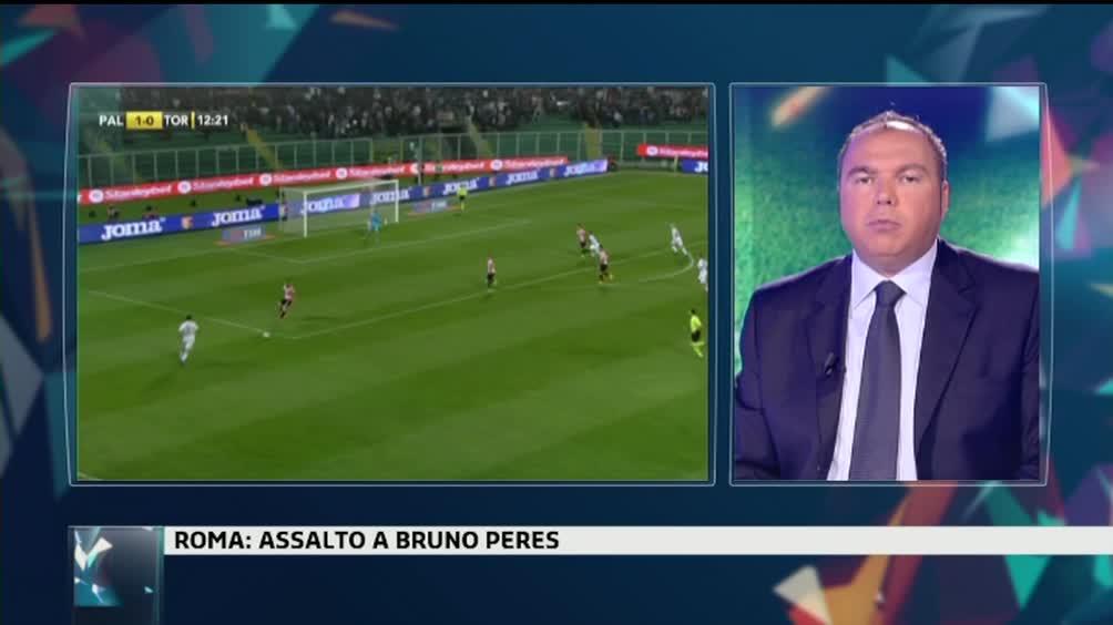 Roma, assalto a Bruno Peres