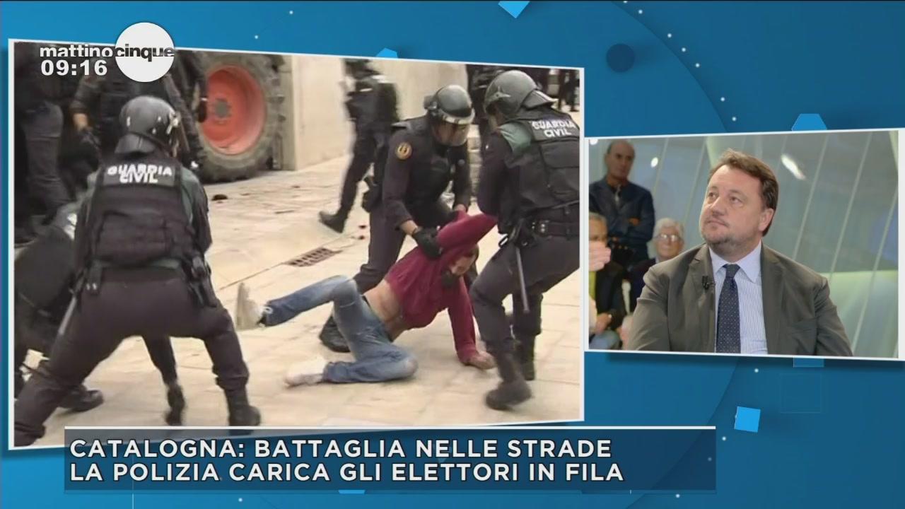 Referendum in Catalogna: battaglia nelle strade