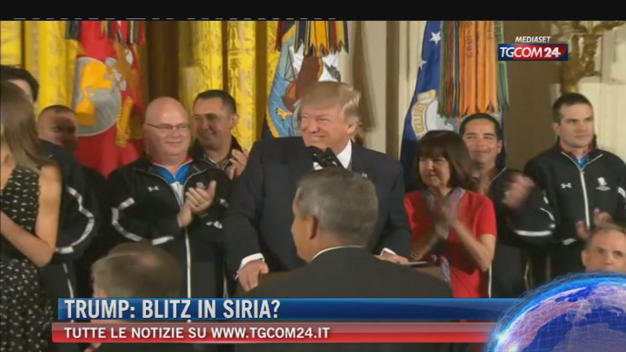 """Siria: Trump valuta l'opzione militare. Erdogan contro Assad: """"Allah vendicherà le vittime dei gas"""""""