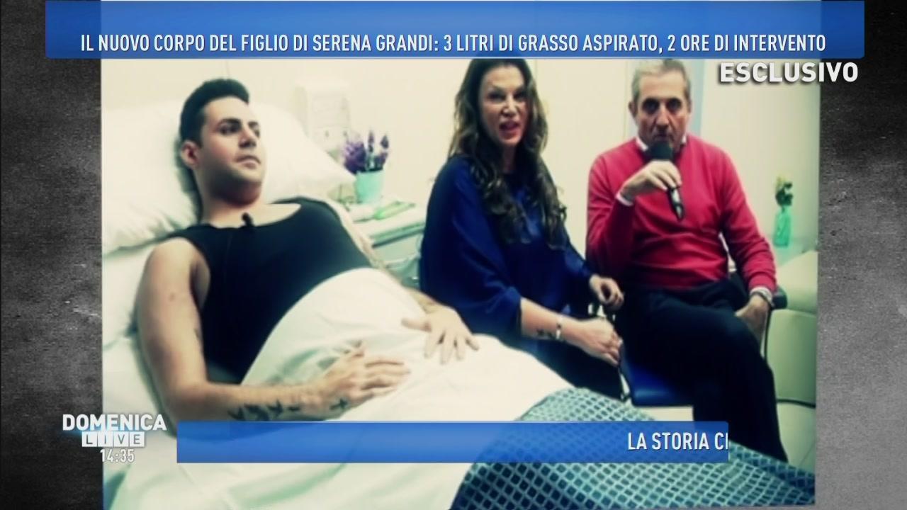 La trasformazione del figlio di Serena Grandi