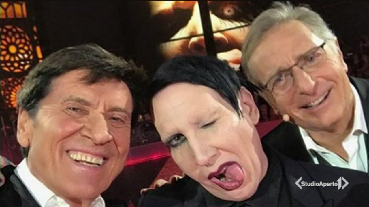 Gianni Morandi e Marilyn Manson