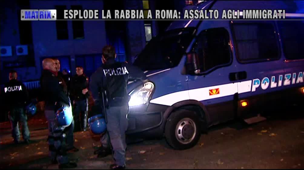 Esplode la rabbia a Roma: assalto agli immigrati