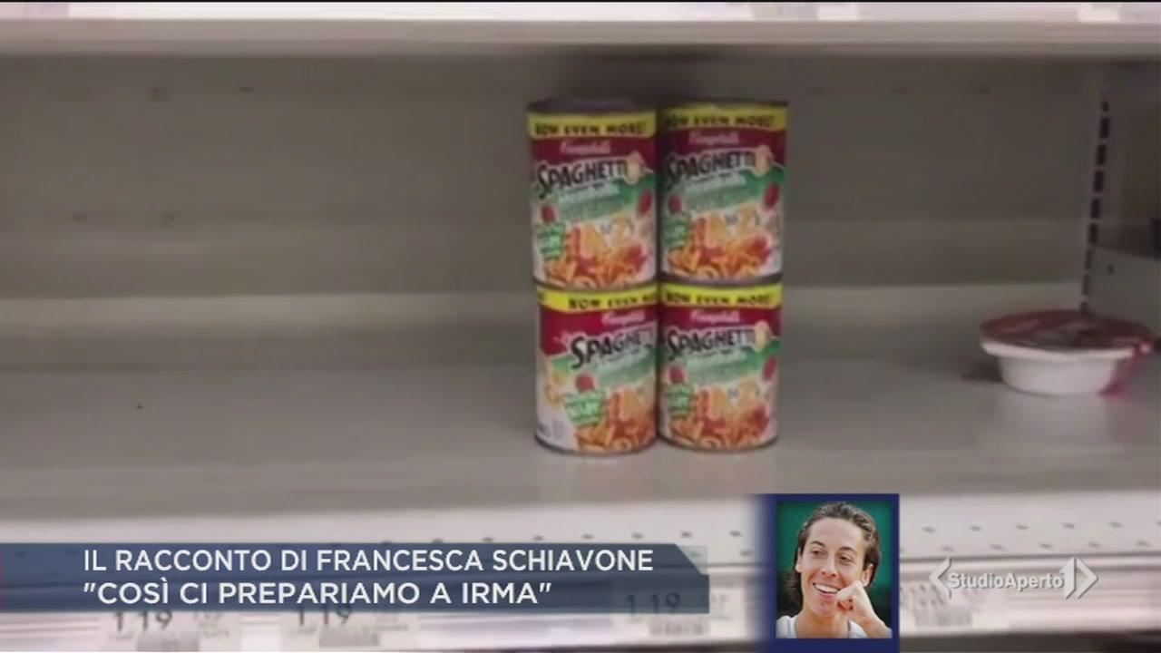 """Francesca Schiavone a Miami, """"siamo in fuga da Irma"""""""