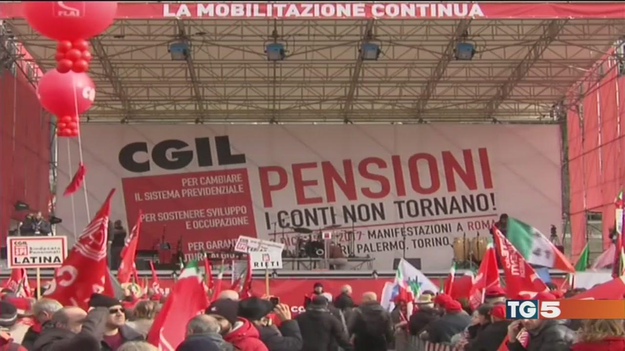 Cgil: sulle pensioni i conti non tornano
