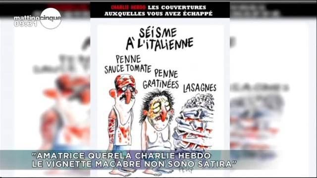 Amatrice querela Charlie Hebdo