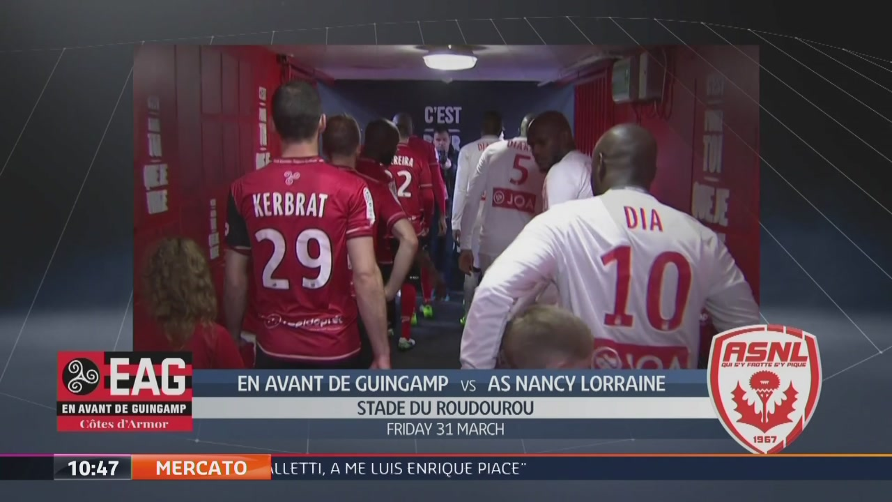 En Avant De Guingamp-AS Nancy Lorraine 1-0
