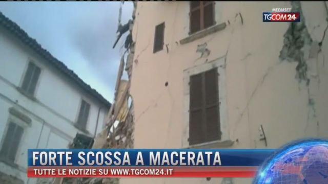 Forte scossa a Macerata