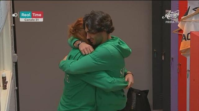 L'abbraccio di Alberto e Tish