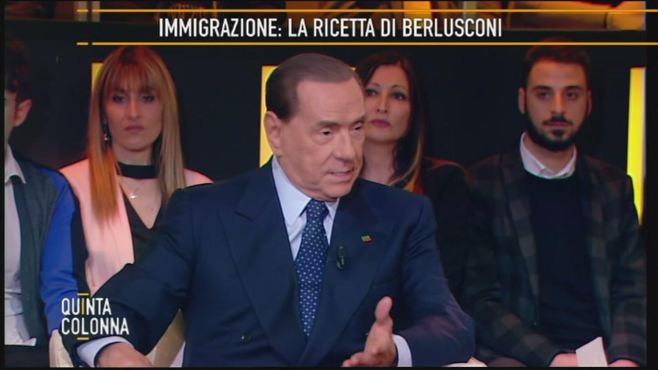 Silvio Berlusconi: l'immigrazione