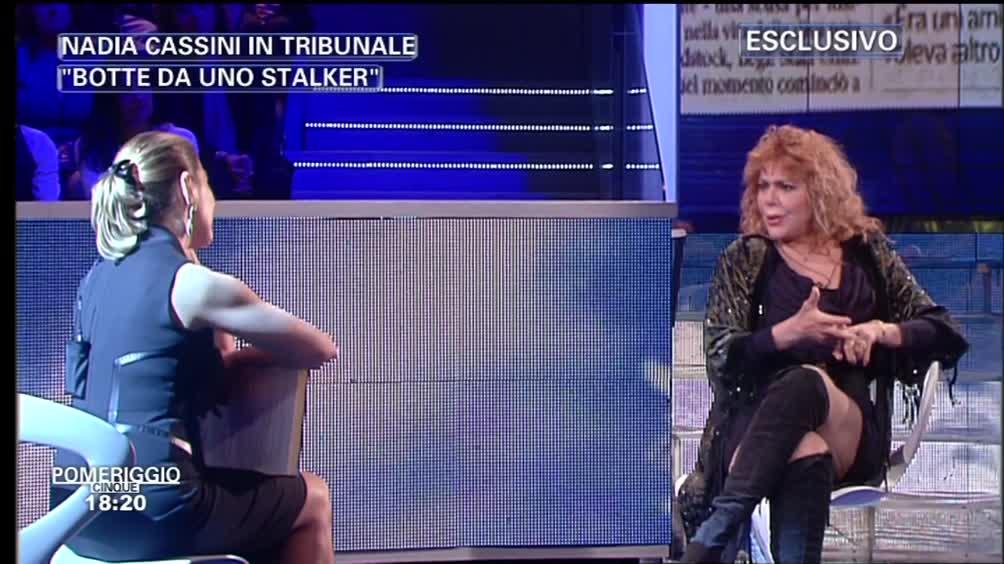 "Nadia Cassini: ""Botte da uno stalker"""