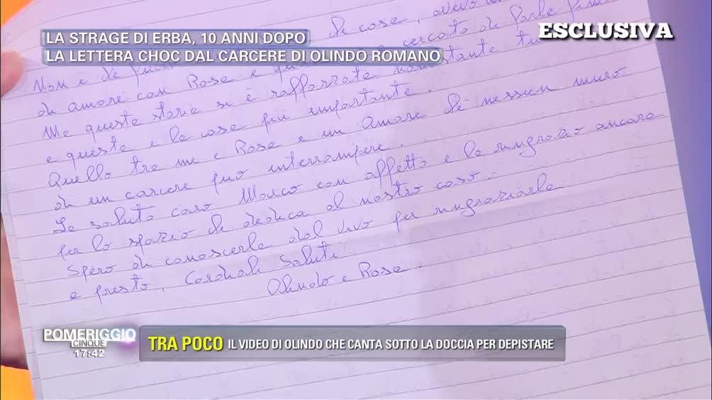 Strage di Erba: lettera Choc dal carcere di Olindo Romano