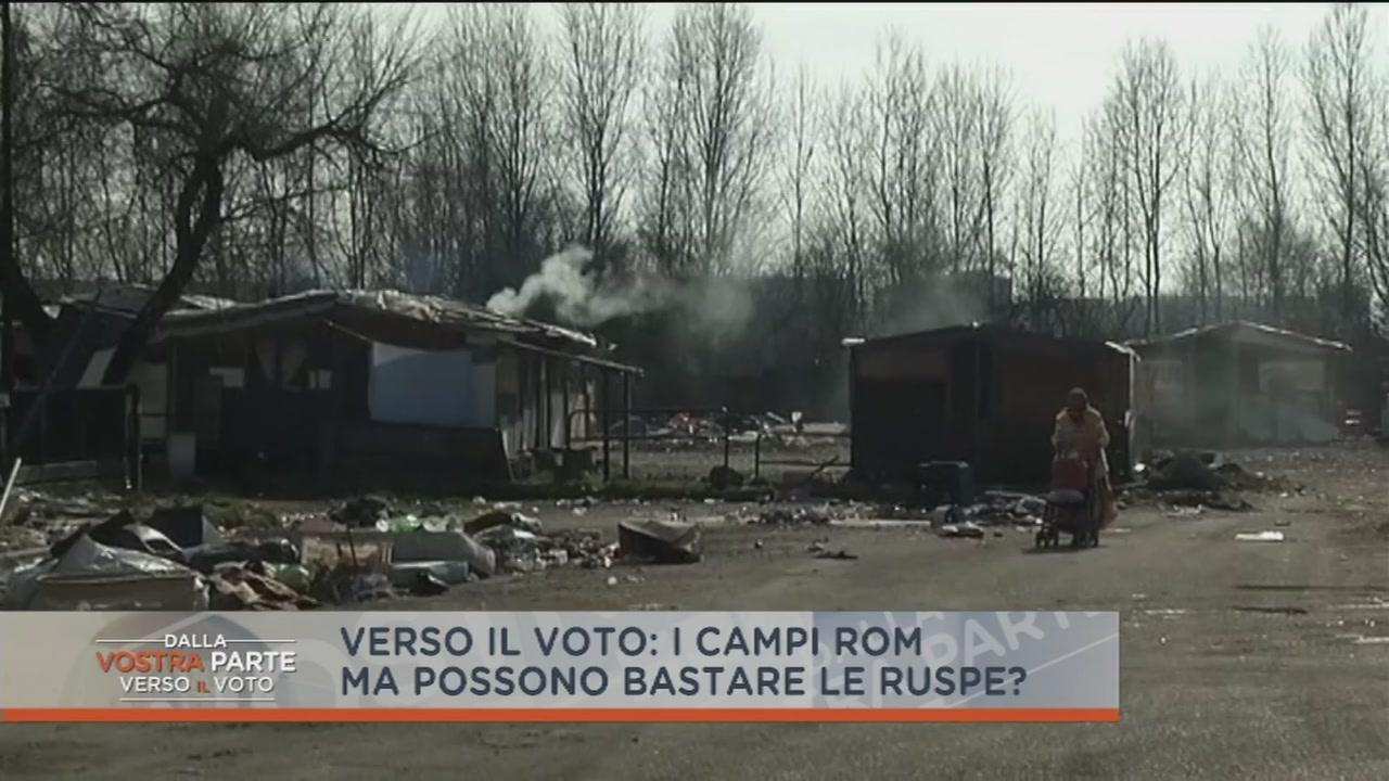 Matteo Salvini sui campi nomadi