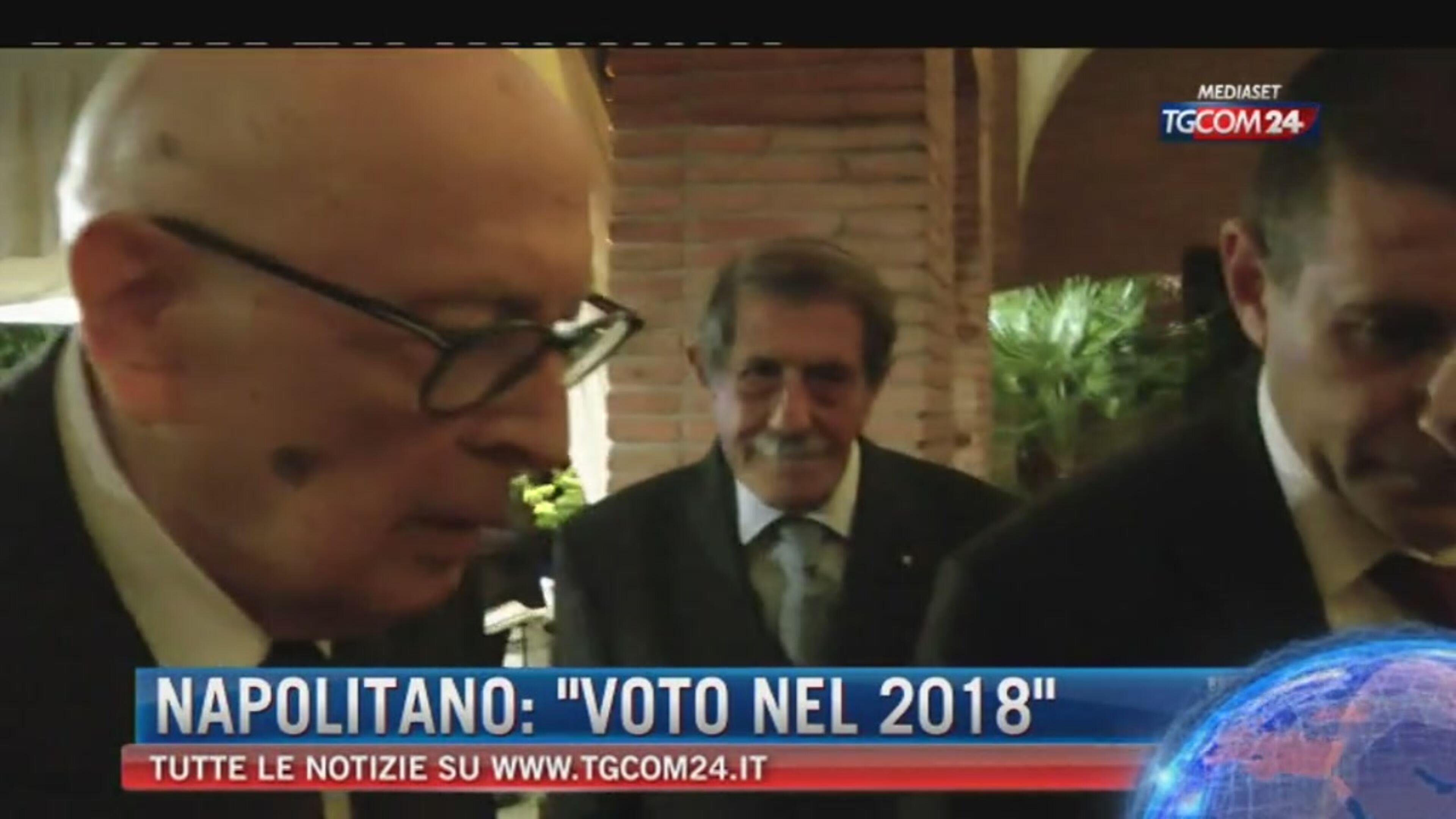 """Elezioni, monito di Napolitano: """"Ci si va a scadenza naturale"""""""