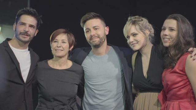 Nel backstage con Laura Chiatti e Marco Bocci!