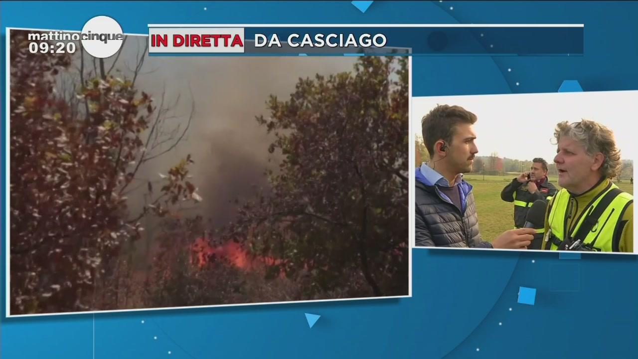 Incendi: in diretta da Casciago