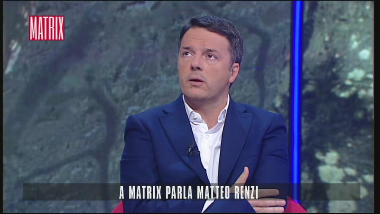A Matrix parla Matteo Renzi
