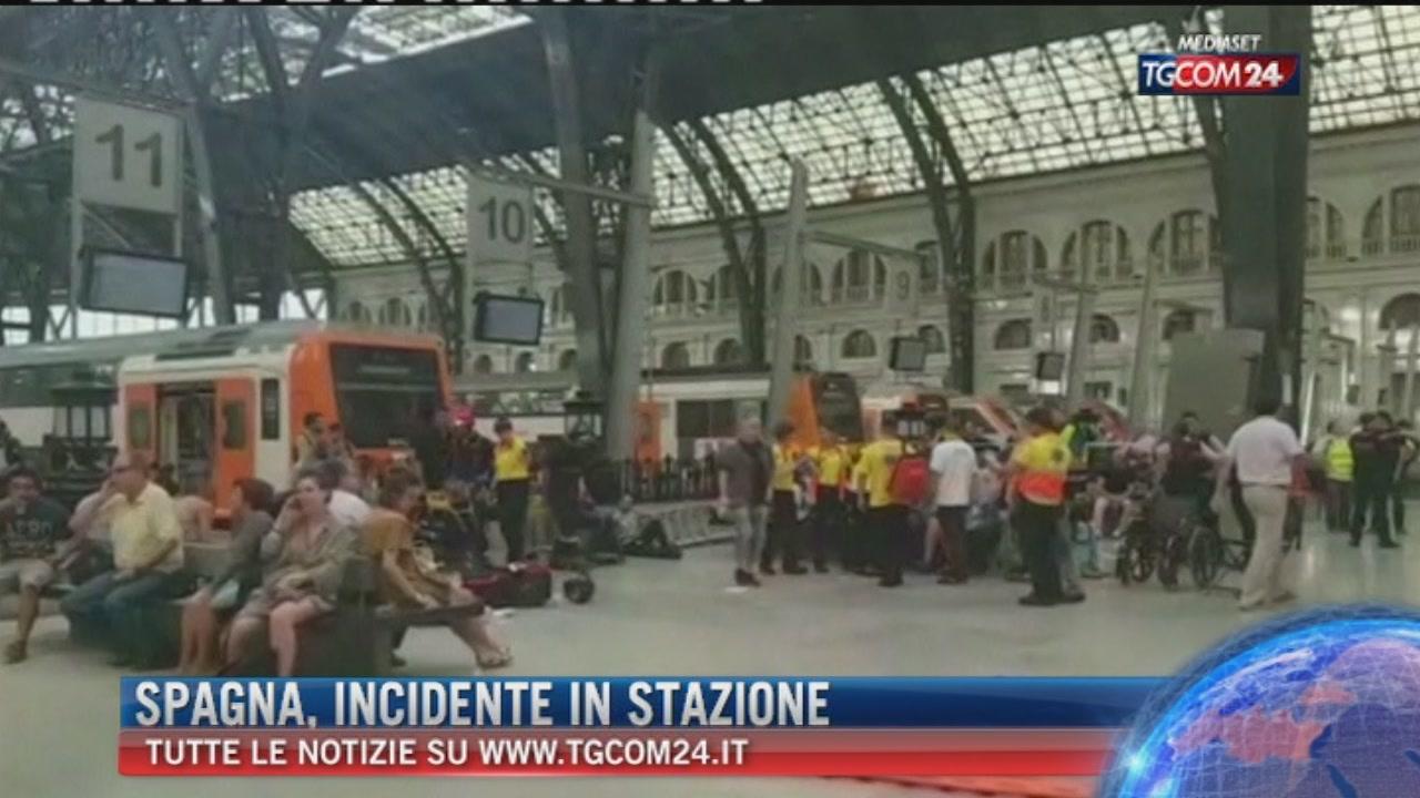 Spagna, incidente in stazione