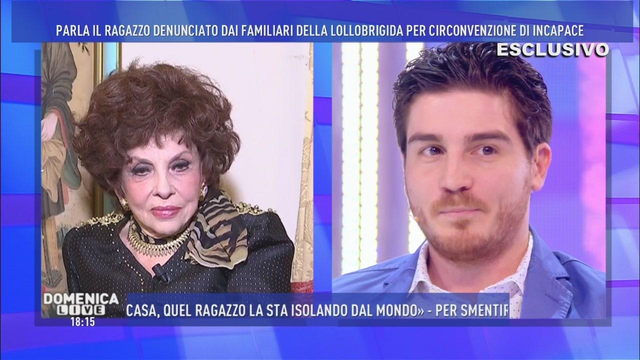 Andrea Piazzolla e Gina Lollobrigida