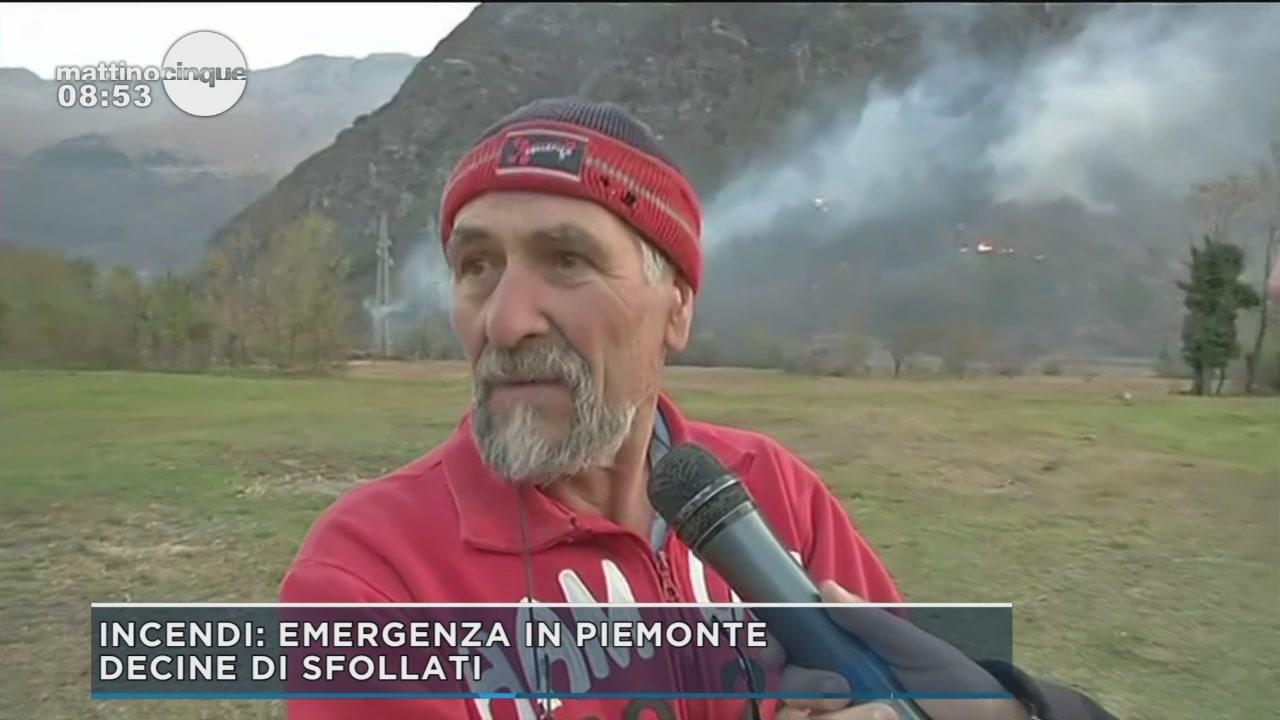 E' allarme incendi in Piemonte