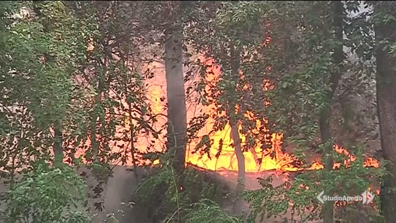 Vesuvio in fiamme, case a rischio