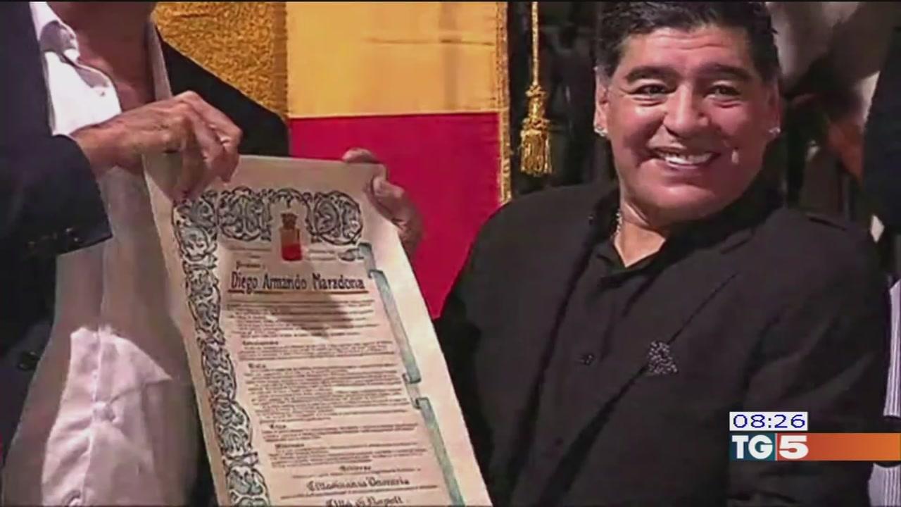 Festa per Maradona a Napoli