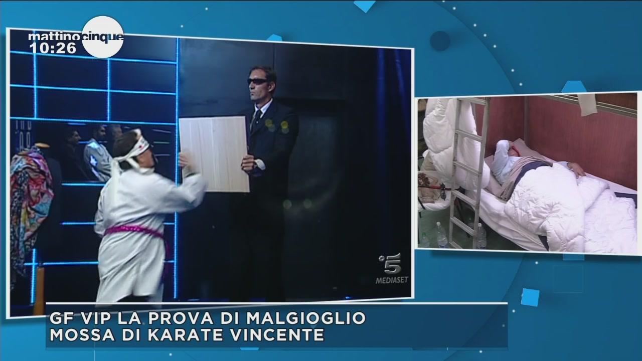 GF Vip 2: Il colpo di karate di Malgioglio