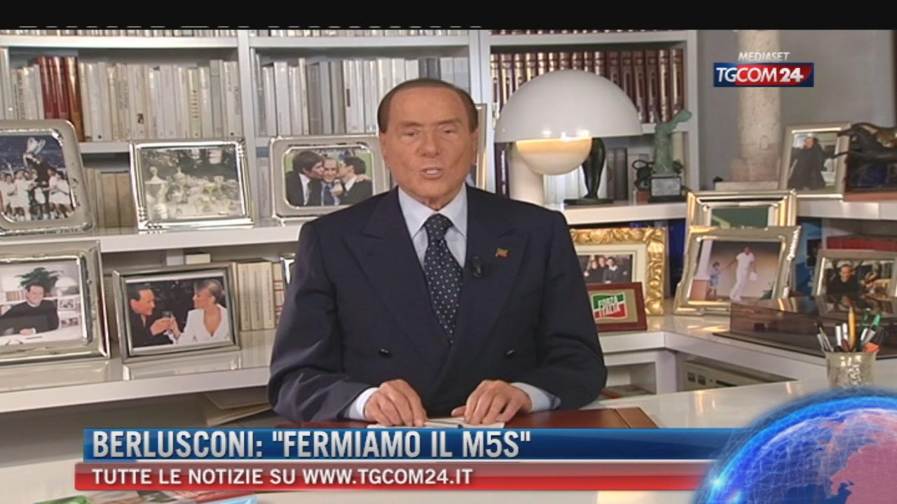 """Breaking News delle 14.30: """"Berlusconi, fermiamo il M5s"""""""