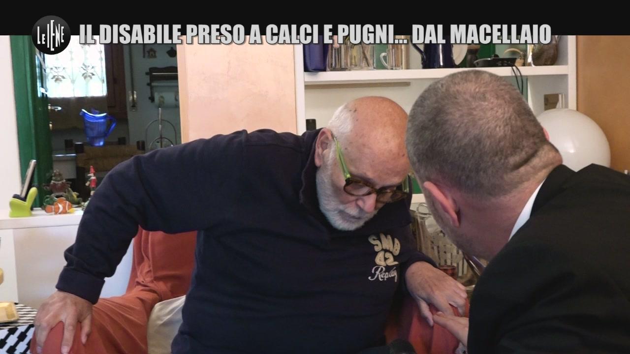 GOLIA: Il disabile preso a calci e pugni … dal macellaio