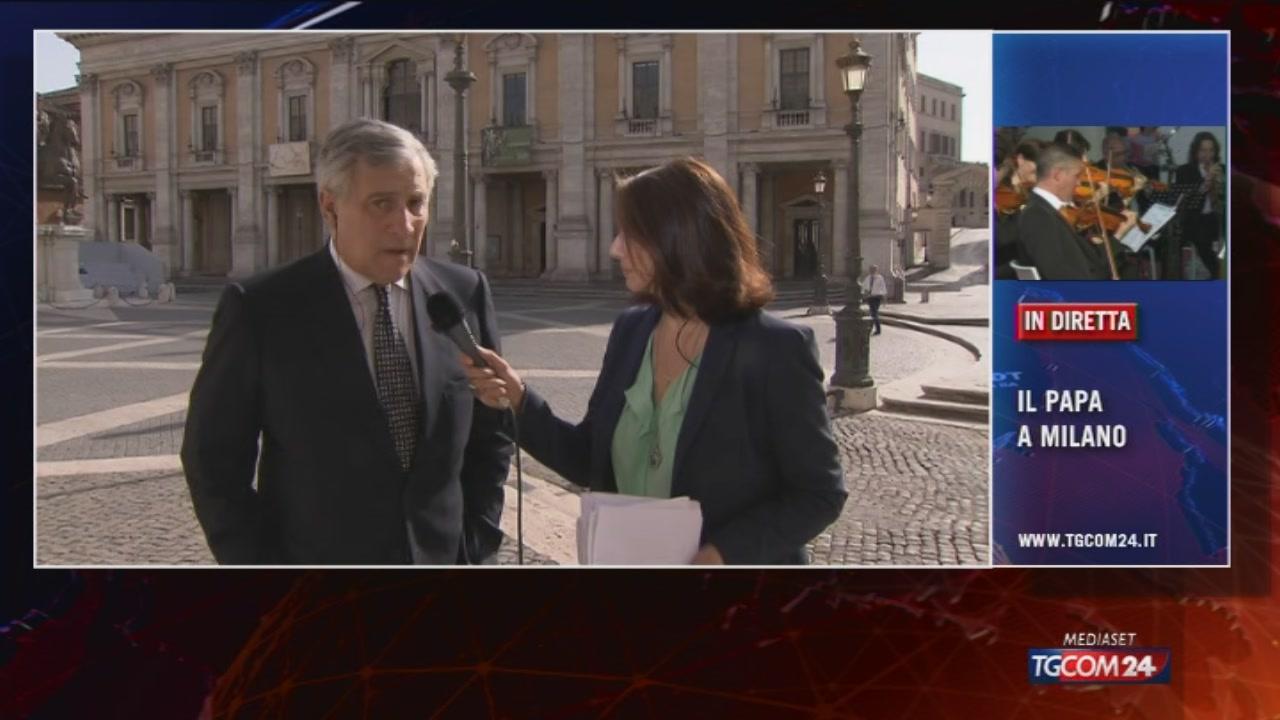 """Tajani a Tgcom24: """"Immigrazione, crisi e terrorismo sono le tre sfide europee"""""""