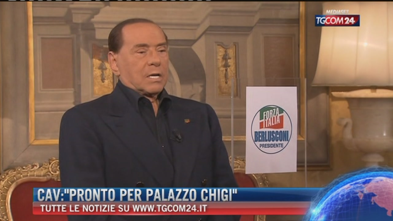 """Breaking News delle ore 16.00: """"Cav: """"Pronto per palazzo Chigi"""""""""""